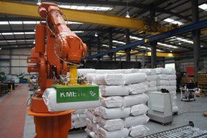robot stacking haylage