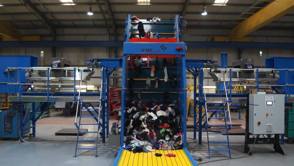 Our machinery is perfect for many textile recycling facilities