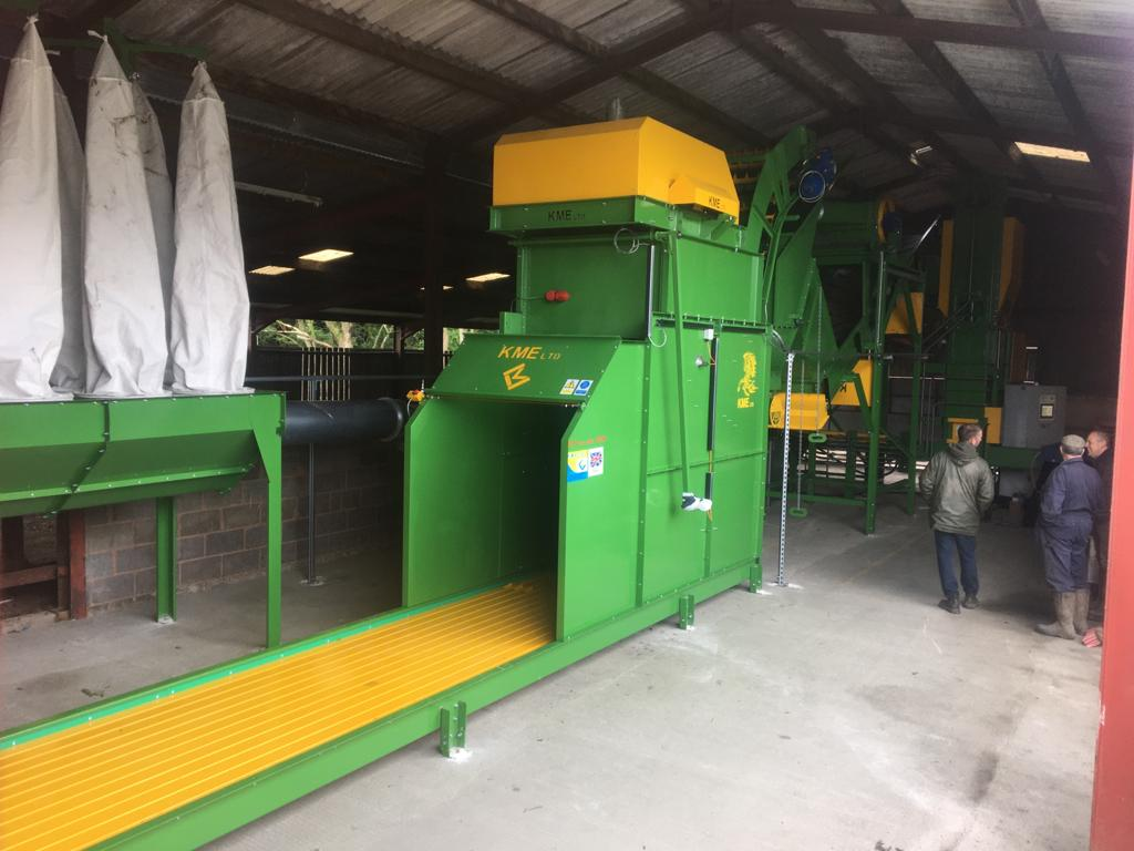 KME rebaler systems for large bales to convert to small bales